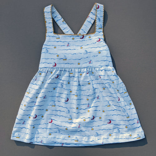 *4T ONLY LEFT* Sawyer | Dress | Sailboats
