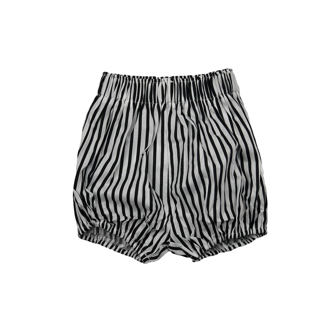 Evie | Black + White Stripe Shorts