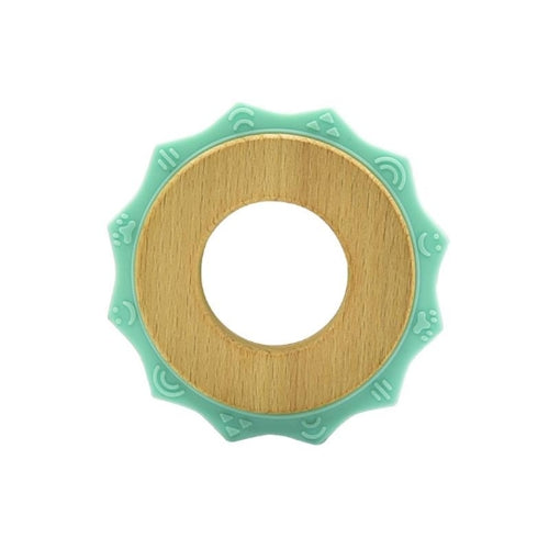 Sun Teether | Silicone/Wood | Teal