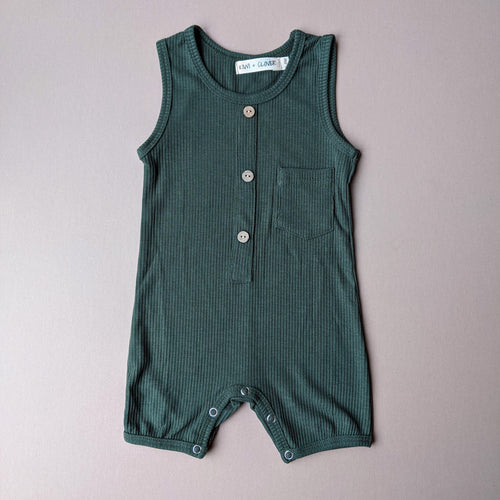 River | Ribbed Jumpsuit | Hunter Green