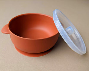 Silicone Suction Bowl | Rust