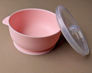 Silicone Suction Bowl | Light Pink