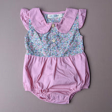 Load image into Gallery viewer, Claire | Collared Romper | Pink/Floral