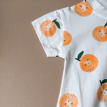 Load image into Gallery viewer, Clementine | Bubble Romper | Oranges