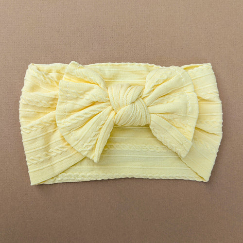 Cable Knit Bow Headband | Honey