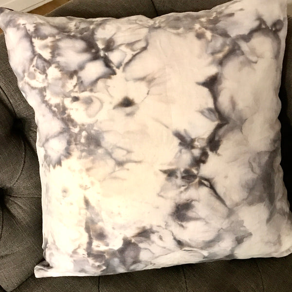 Grey + White Pillow