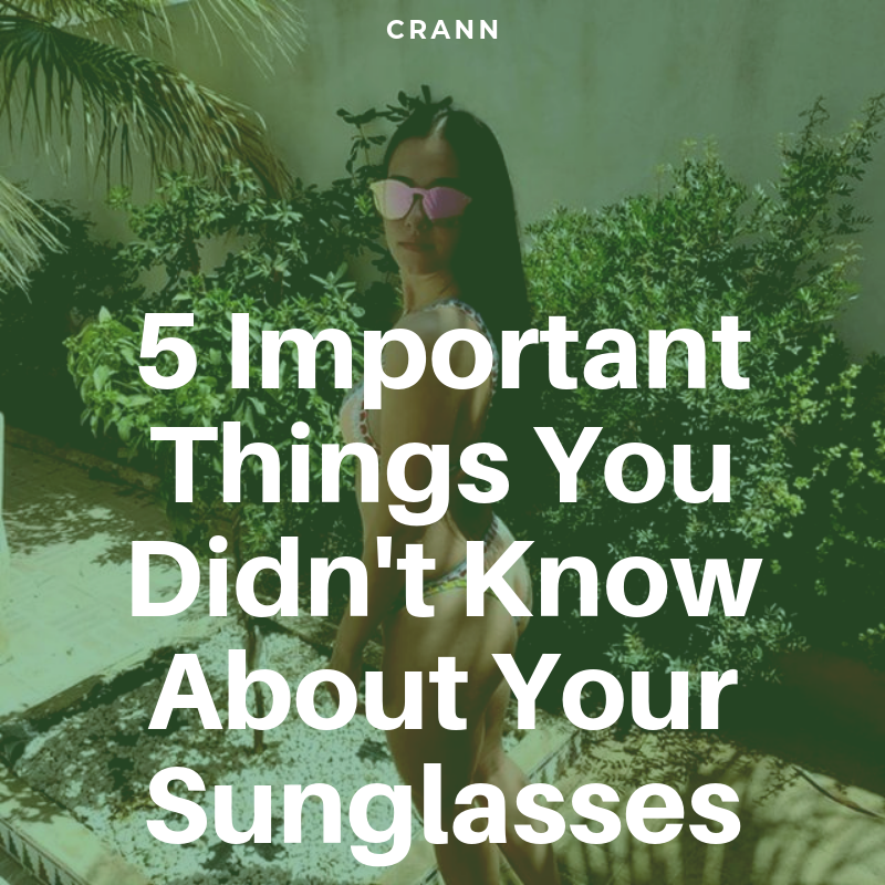 Shades, Sunnies or Specs, Whatever you call them here's some helpful info?