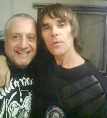 Leo with Ian Brown at Creamfields