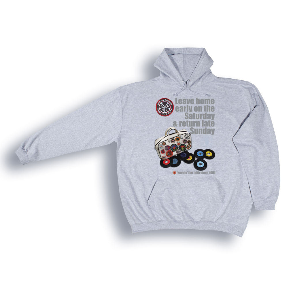 Wigan Casino 'DJ Bag' Hooded Sweatshirt from the Identity Big Time Collection - Sizes from 2XL to 6XL