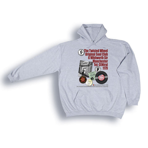 Northern Soul, Twisted Wheel Hoodie from the Identity Big Time Collection - Sizes from 2XL to 6XL