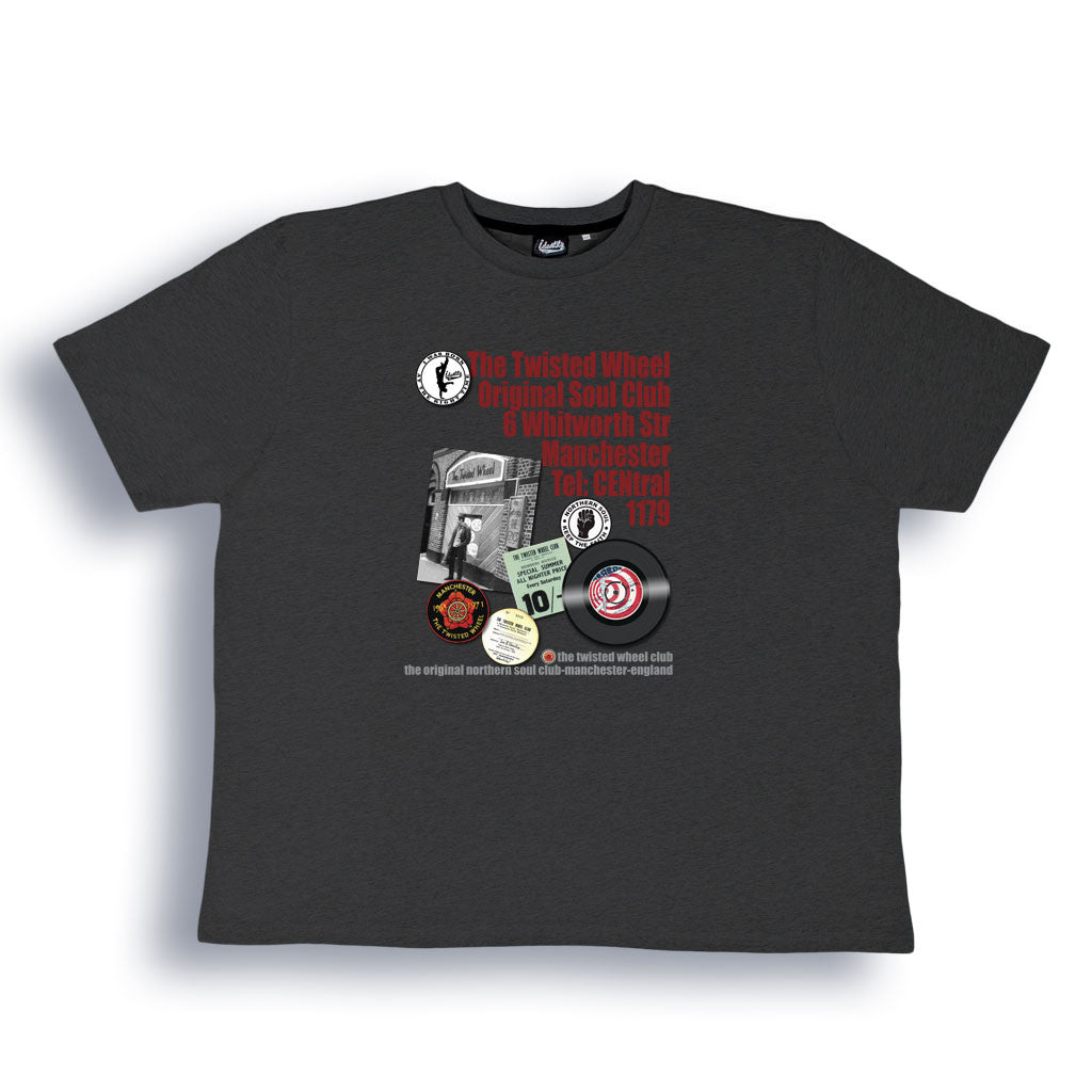 Northern Soul, Twisted Wheel T Shirt from the Identity Big Time Collection - Sizes from 2XL to 6XL
