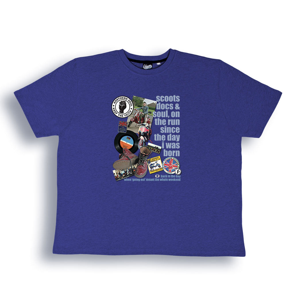 Northern Soul 'Scoots and Boots' T Shirt from the Identity Big Time Collection - Sizes from 2XL to 6XL