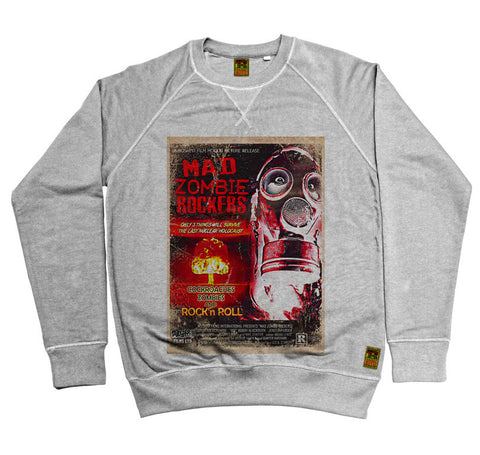 B-Movie 'Mad Zombie Rockers' Heather Grey Sweatshirt