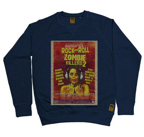 B-Movie 'Rock And Roll Zombie Killers 2' Navy Sweatshirt