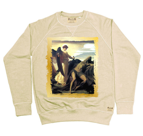Ikons 'Elijah in Wilderness' Vintage White Sweatshirt from our Ikons range of restored old masters as worn by Ian Brown of the Stone Roses