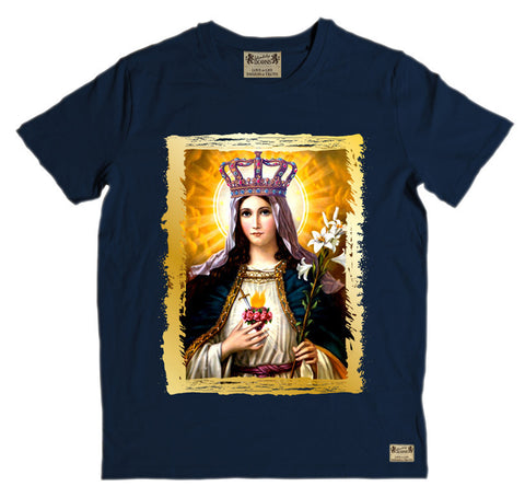 Ikons 'Our Lady' Navy T-Shirt from our Ikons range of restored old masters as worn by Ian Brown of the Stone Roses