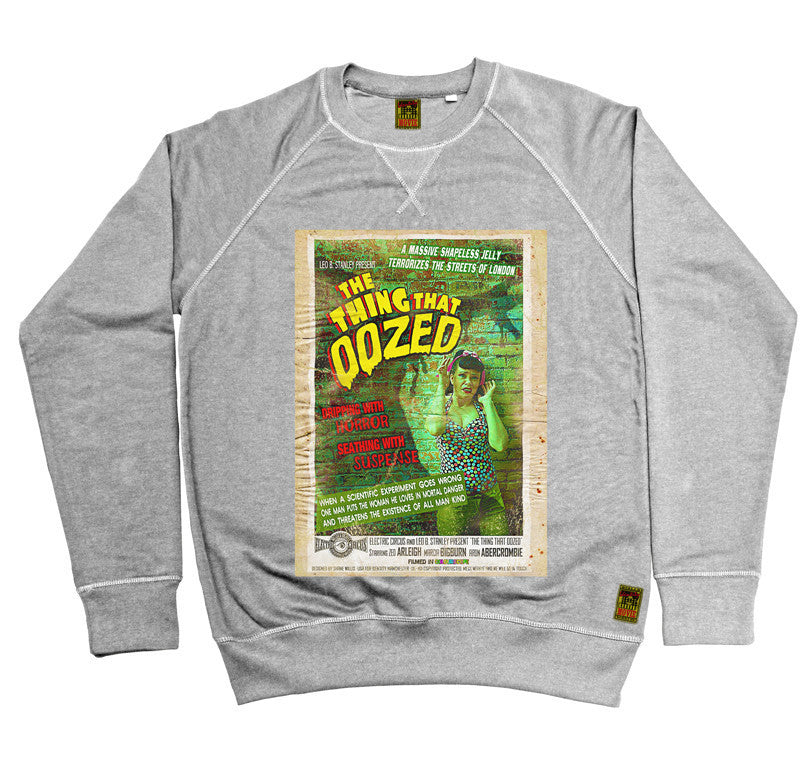 B-Movie 'The Thing That Oozed' Heather Grey Sweatshirt