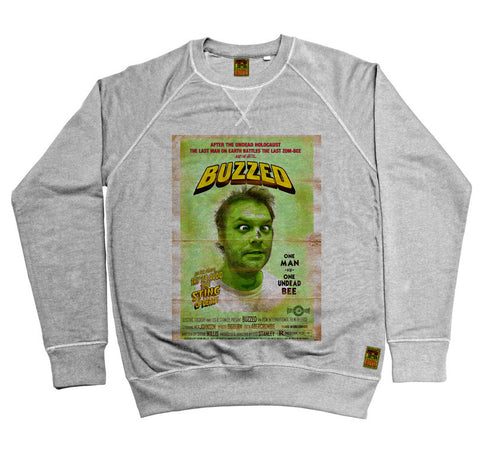 B-Movie 'Buzzed' Heather Grey Sweatshirt