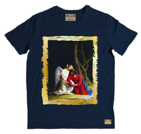 Ikons 'Gethsemene' Navy T-Shirt from our Ikons range of restored old masters as worn by Ian Brown of the Stone Roses