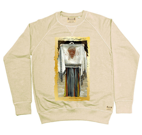 Ikons 'The Holy Face' Vintage White Sweatshirt from our Ikons range of restored old masters as worn by Ian Brown of the Stone Roses