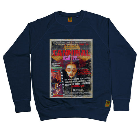 B-Movie 'Cannibal Girl' Navy Sweatshirt