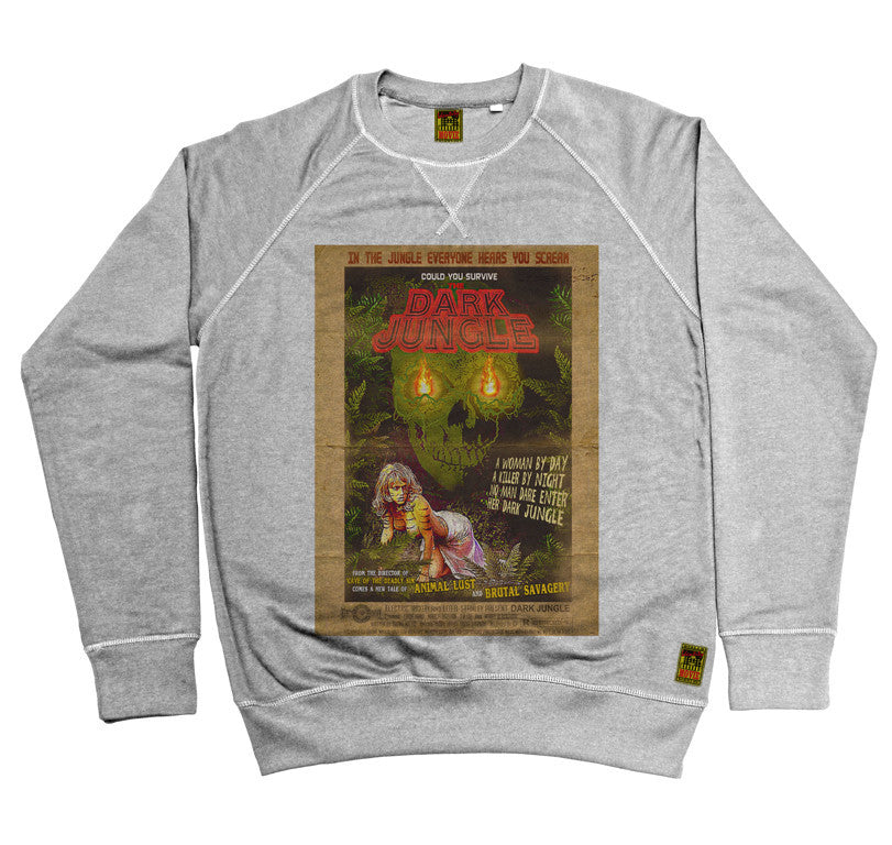 B-Movie 'Dark Jungle' Heather Grey Sweatshirt