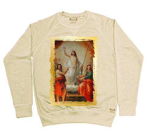 Ikons 'The Saviour with Two Saint John's' Vintage White Sweatshirt