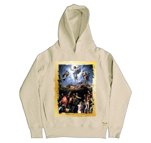 Ikons 'The Transfiguration' Vintage White Hooded Sweatshirt