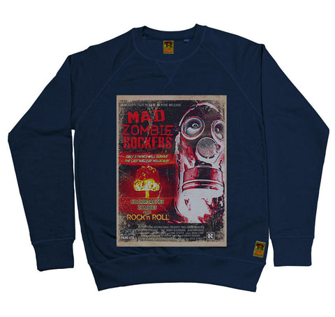 B-Movie 'Mad Zombie Rockers' Navy Sweatshirt