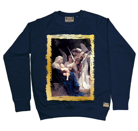 Ikons 'Song Of The Angels 1881' Navy Sweatshirt from our Ikons range of restored old masters as worn by Ian Brown of the Stone Roses