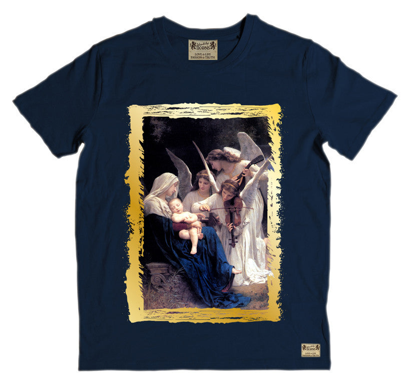 Ikons 'Song Of The Angels 1881' Navy T-Shirt from our Ikons range of restored old masters as worn by Ian Brown of the Stone Roses