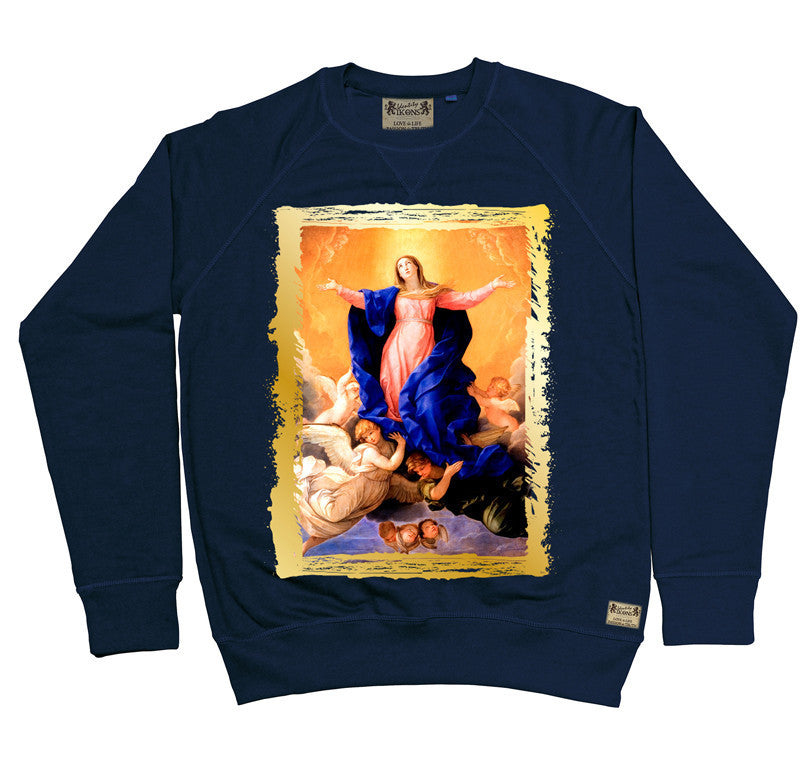 Ikons 'The Assumption of the Virgin' Navy Sweatshirt from our Ikons range of restored old masters as worn by Ian Brown of the Stone Roses