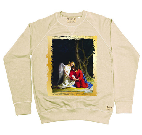 Ikons 'Gethsemene' Vintage White Sweatshirt from our Ikons range of restored old masters as worn by Ian Brown of the Stone Roses