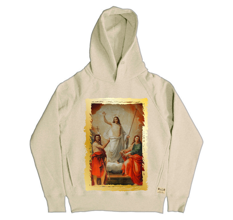 Ikons 'The Saviour with 2 Saint John's' Hooded Sweatshirt