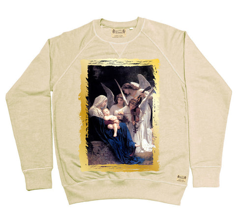 Ikons 'Song Of The Angels 1881' Vintage White Sweatshirt from our Ikons range of restored old masters as worn by Ian Brown of the Stone Roses