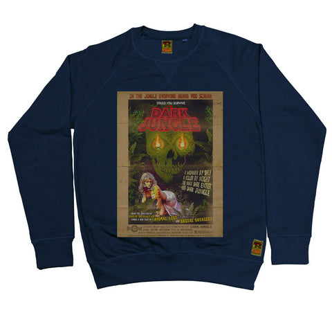B-Movie 'Dark Jungle' Navy Sweatshirt