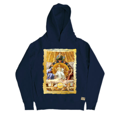 Ikons 'Christ Glorified' Navy Hooded Sweatshirt from our Ikons range of restored old masters as worn by Ian Brown of the Stone Roses