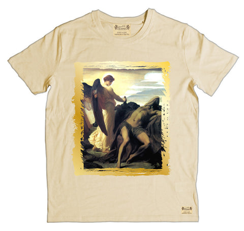 Ikons 'Elijah in Wilderness' Vintage White T-Shirt from our Ikons range of restored old masters as worn by Ian Brown of the Stone Roses