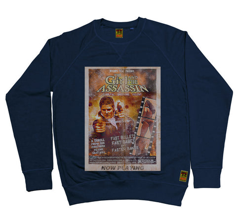 B-Movie 'Girl and the Assassin' Navy Sweatshirt