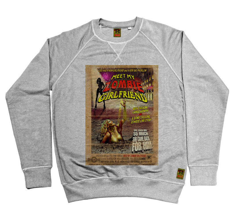 B-Movie 'Meet My Zombie Girlfriend' Heather Grey Sweatshirt