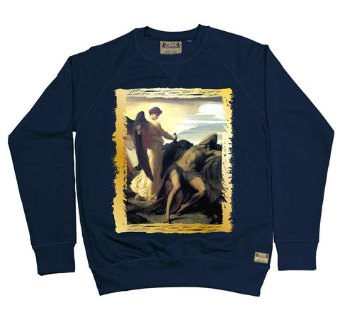 Ikons 'Elijah in Wilderness' Navy Sweatshirt from our Ikons range of restored old masters as worn by Ian Brown of the Stone Roses
