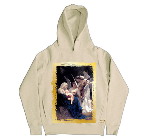 Ikons 'Song Of The Angels 1881' Vintage White Hooded Sweatshirt from our Ikons range of restored old masters as worn by Ian Brown of the Stone Roses