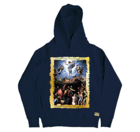 Ikons 'The Transfiguration' Navy Hooded Sweatshirt