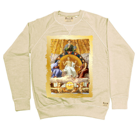 Ikons 'Christ Glorified' Vintage White Sweatshirt from our Ikons range of restored old masters as worn by Ian Brown of the Stone Roses