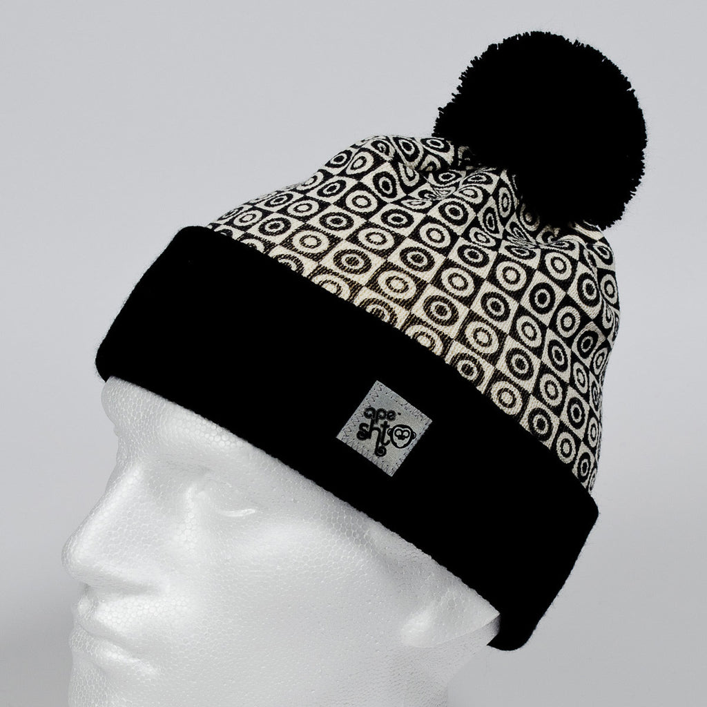 Ape Sht 'Rollo' Printed Beanie Hat Black