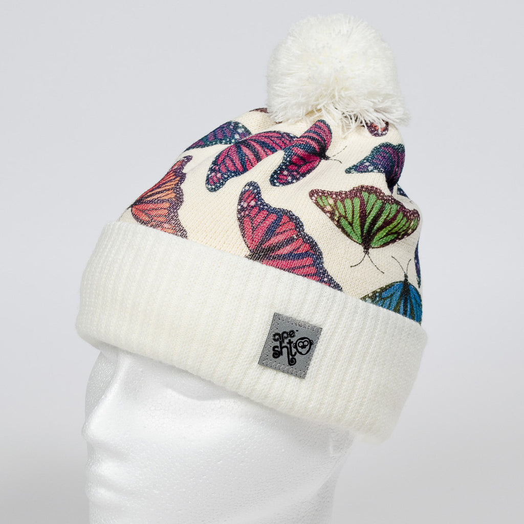 Ape Sht 'Flutterby' Printed Beanie Hat