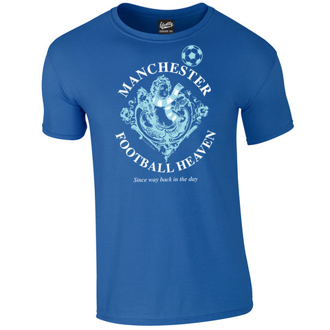 Identity Manchester City Supporters 'Football Heaven' Iconic T Shirt - Front Print Only
