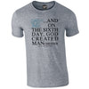 Identity Sixth Day Manchester City Supporters T Shirt - Front Print Only