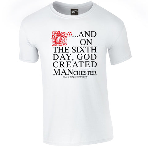 Identity Sixth Day Manchester United Fans iconic T Shirt - Front Print Only