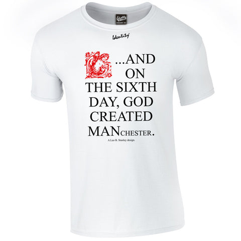 Classic Identity 'On the Sixth Day' T-Shirt -  Front and Back Print